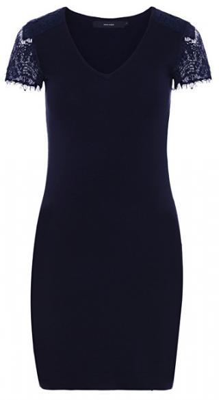 Vero Moda Dámske šaty Lassi Glory Ss V-Neck Dress Night Sky XS dámské
