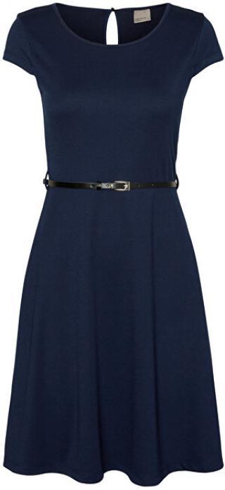 Vero Moda Dámske šaty Vigga Flair Caps Leevi Dress Noosa Black Iris XS dámské