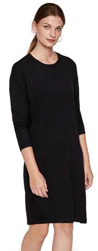 Vero Moda Dámske šaty VMHAPPY BASIC LS ZIPPER DRESS NOOS Black XS dámské