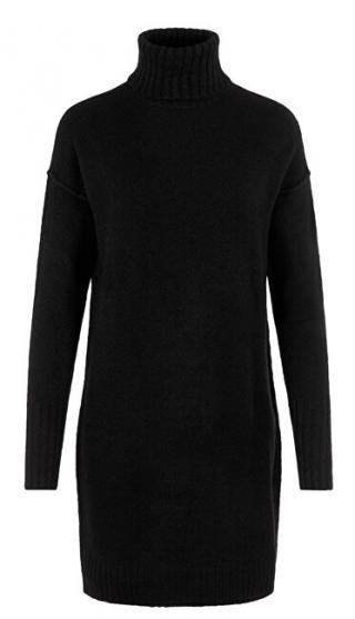 Vero Moda Dámske šaty VMLUCI LS ROLLNECK DRESS Black M dámské