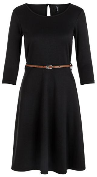 Vero Moda Dámske šaty VMVIGGA FLAIR 3/4 SLEEVE DRESS Black XS dámské