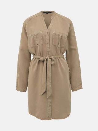 Vero Moda hnedé košeľové šaty Saffi - XS dámské hnedá XS