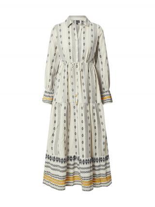 VERO MODA Košeľové šaty Astrid  čierna / béžová / sivá / žltá dámské 34
