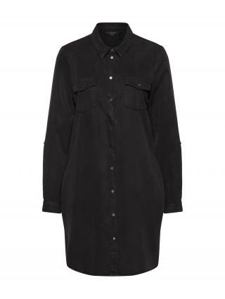 VERO MODA Košeľové šaty Chambray  čierna dámské 34