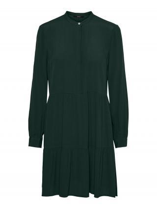 VERO MODA Košeľové šaty FLY  tmavozelená dámské 34