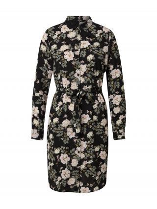 VERO MODA Košeľové šaty SAGA  čierna / biela / ružová / olivová dámské 40