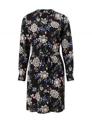 VERO MODA Košeľové šaty Saga  čierna / modrá / zelená / ružová dámské 34