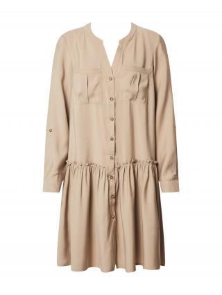VERO MODA Košeľové šaty VMMICHALLA  béžová dámské 34