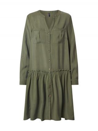 VERO MODA Košeľové šaty VMMICHALLA  zelená dámské 34
