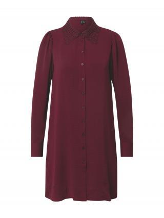 VERO MODA Košeľové šaty WIGGA  fialová dámské 34