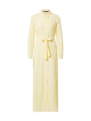 VERO MODA Košeľové šaty  žltá / biela dámské 36