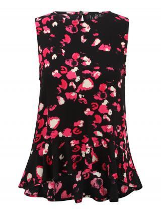 Vero Moda Petite Blúzka NORAESTHER  čierna / ružová / biela dámské XS