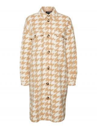 VERO MODA Prechodná bunda Chrissie  karamelová / biela dámské L