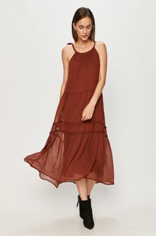 Vero Moda - Šaty dámské burgundské L