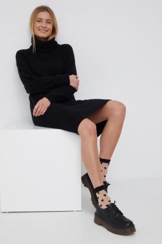 Vero Moda - Šaty s prímesou vlny dámské čierna XS