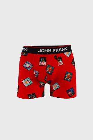 Vianočné boxerky Posty pánské červená M