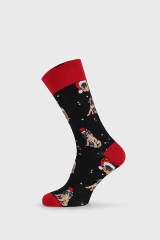 Vianočné ponožky Pug pánské ČIERNA 40-45