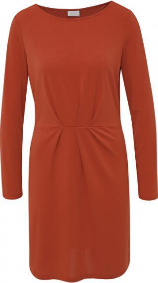 Vila Dámske šaty VICLASSY L/S DETAIL DRESS - FAV Ketchup S dámské