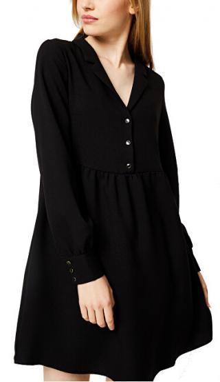 Vila Dámske šaty VIMICCA L / S DRESS C8 Black 38 dámské