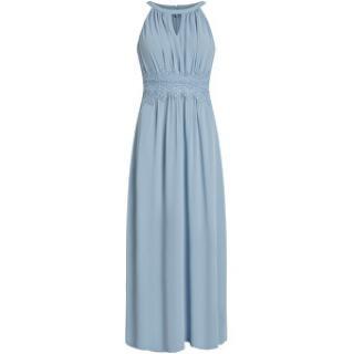 Vila Dámske šaty VIMILINA halterneck MAXI DRESS - Noosa Ashley Blue 40 dámské