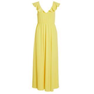 Vila Dámske šaty Virannsil S/L Maxi Dress/Za Goldfinch 34 dámské