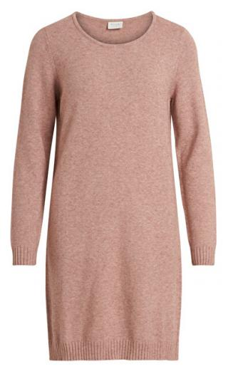 Vila Dámske šaty VIRIL L / S KNIT DRESS - Noosa Ash Rose XS dámské