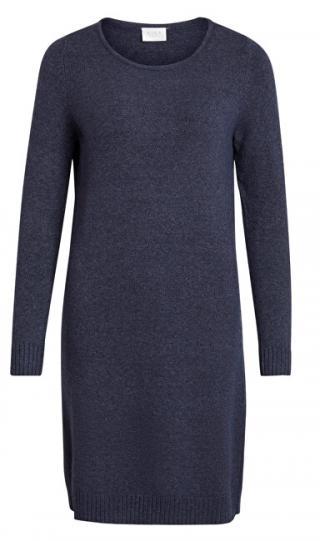Vila Dámske šaty vírili L / S KNIT DRESS - Noosa Total Eclipse M dámské