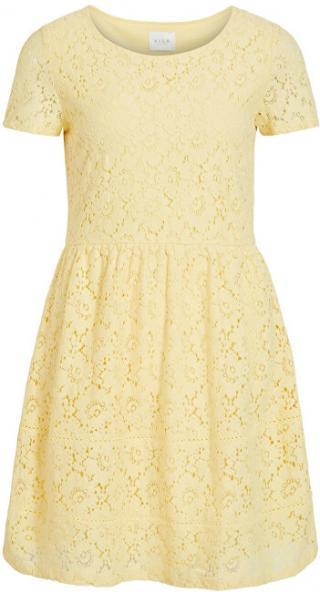 Vila Dámske šaty VISULACEY S / S DRESS / SU Mellow Yellow 40 dámské