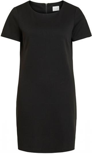 Vila Dámske šaty VITINNY NEW S / S DRESS - FAV Black L dámské
