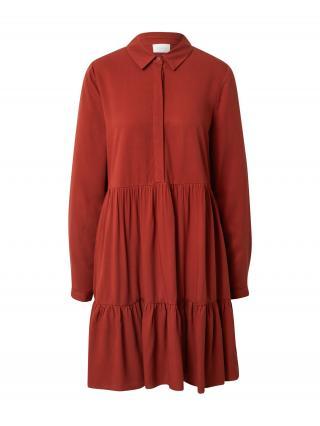VILA Košeľové šaty MOROSE  hrdzavo červená dámské 42