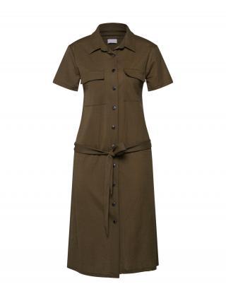 VILA Košeľové šaty SAFINA  olivová dámské 40