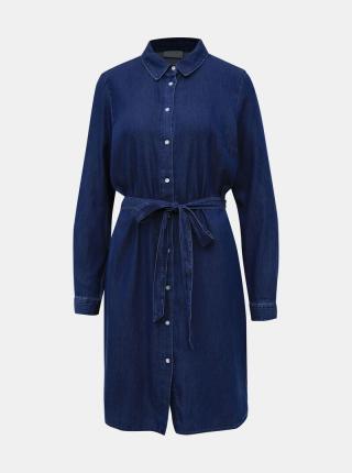 Vila modré košeľové šaty Bista - S dámské modrá S