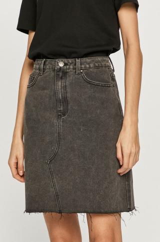 Vila - Rifľová sukňa dámské sivá 36
