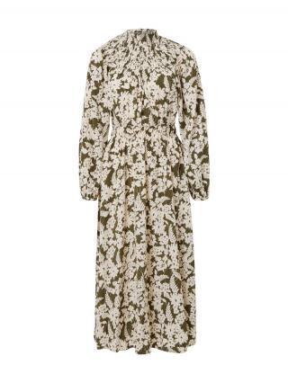 VILA Šaty Ivy  kaki / biela dámské 34