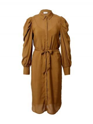 VILA Šaty Mylta  farba ťavej srsti dámské 34