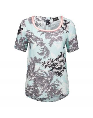 VILA Tričko Haiti  svetlomodrá / sivá / zmiešané farby dámské XS