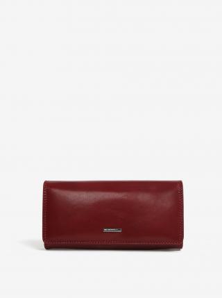 Vínová dámska veľká kožená peňaženka KARA dámské