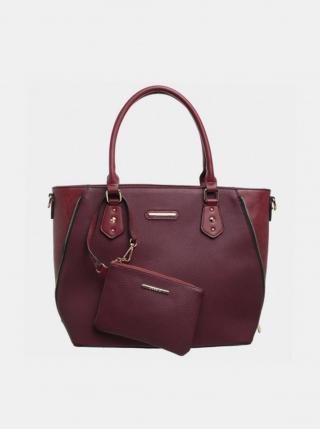 Vínová kabelka s malým púzdrom Bessie London dámské