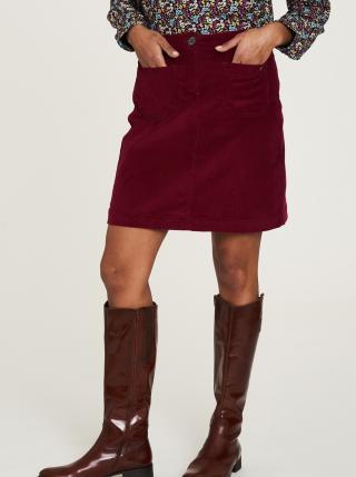 Vínová menčestrová sukňa Tranquillo dámské XXL