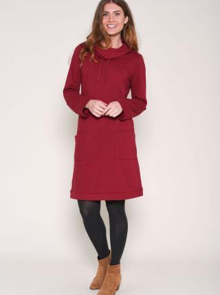 Vínové mikinové šaty Brakeburn dámské červená L