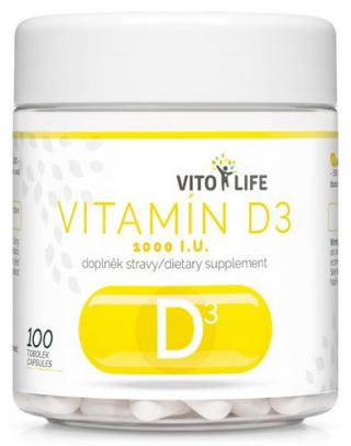 Vito life Vitamín D3 1000 IU, 100 tobolek