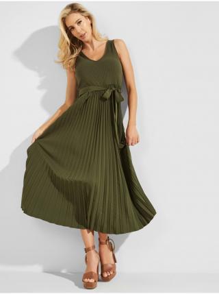 Voľnočasové šaty pre ženy Guess - zelená dámské XS