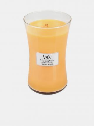 Vonná sviečka WoodWick Seaside Mimosa žltá