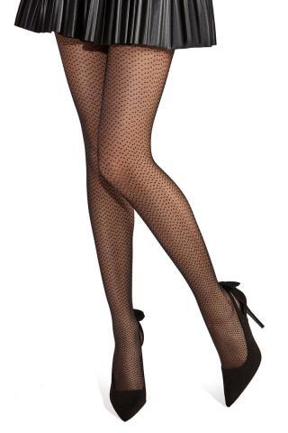 Vzorované pančuchové nohavice Dotti dámské perlová M