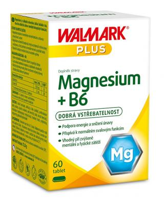Walmark Magnesium   B6 60 tbl. -ZĽAVA - poškodená krabička