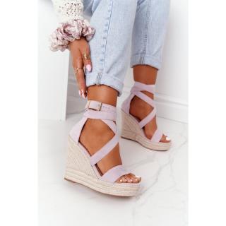 Wedge Sandals With Braids Purple Lanzarote dámské Other 38