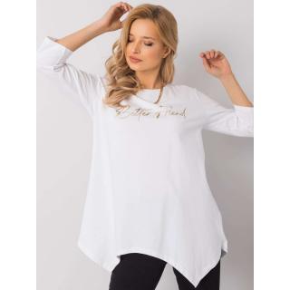 White blouse with an inscription dámské Neurčeno One size