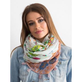 White scarf with floral print dámské Neurčeno One size