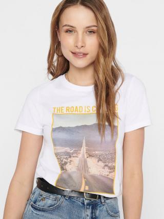 White T-shirt ONLY dámské biela S