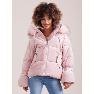 Winter pink velvet down jacket dámské Neurčeno XXL